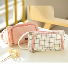 Kawaii Lovely Large Capacity Pencil Case School Student Stationery Pencil Bag Portable Pen Brushes Pouch Box Gifts Supplies цены