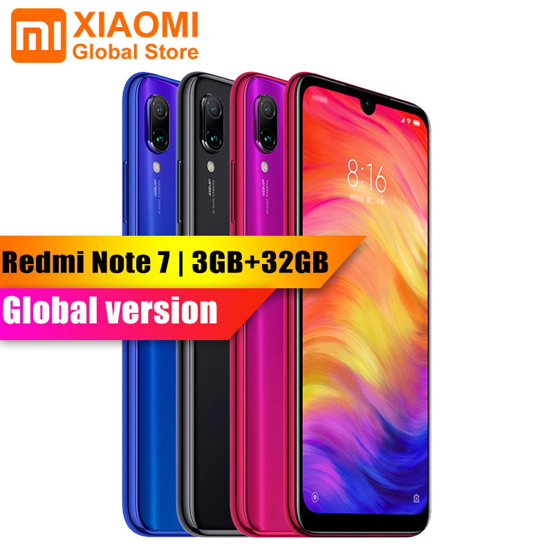 Version mondiale-Xiaomi Note 7 3G RAM 32 GB ROM 2340x1080 plein écran Smartphone Core 6.3