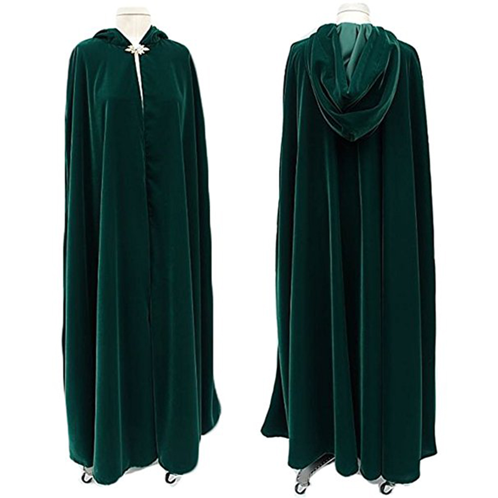 Dark Green Velvet Winter Women Wrap Cape Fur Wedding Coat for Bridal Wedding Cloaks Hooded Party Wraps Jacket