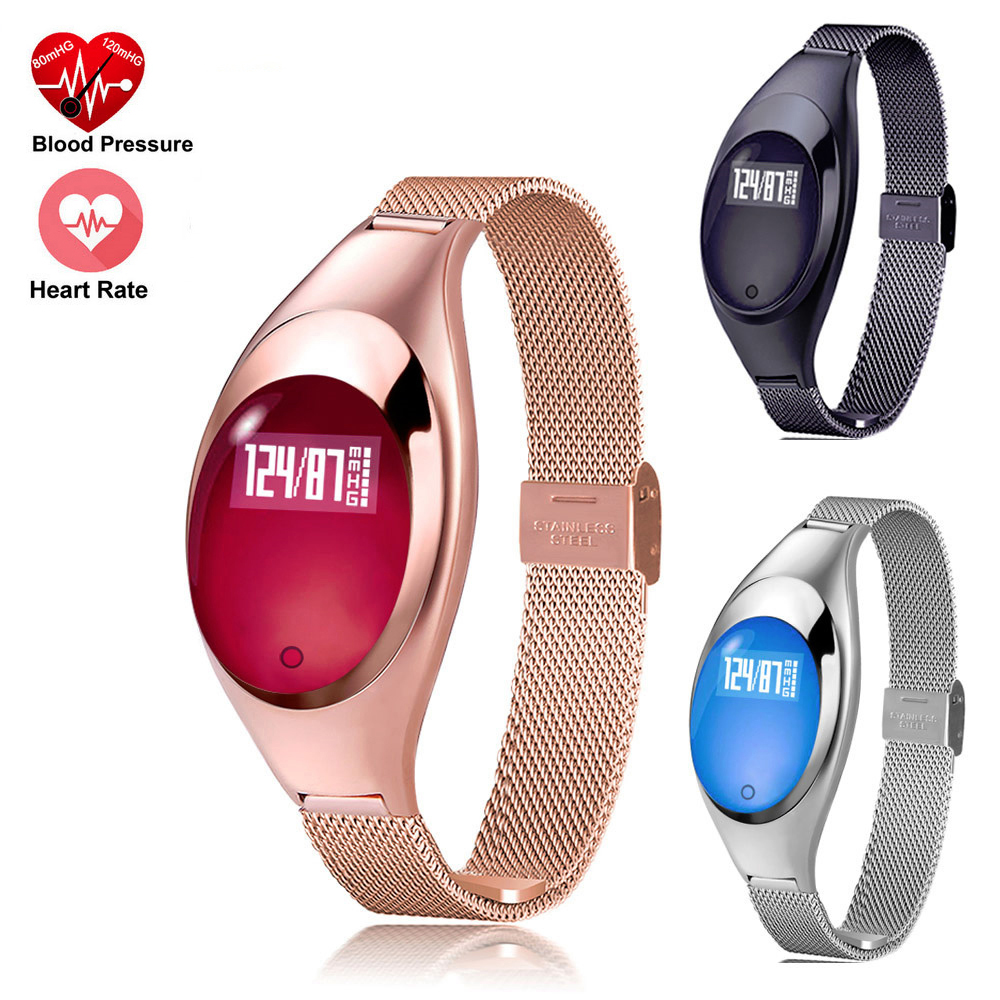 Smart Watches For Women Heart Rate Monitor Fitness Tracker Smart Watches For Android IOS Fashion Intelligent Bracelet Wristbands fashion diamante heart embellished sister bracelet for women