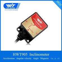 HWT905 Инклинометр 9 Axis AHRS сенсор Водонепроницаемый IP67 и антивибрационный и температурный и магнитометр компенсация