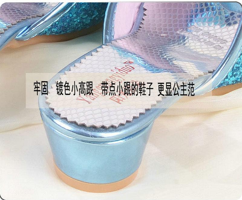 Luxe Zomer Kinder Kinder Meisjes Prinses Slippers Hoge hakken Lederen - Kinderschoenen - Foto 4