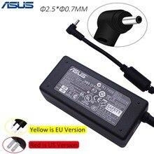ASUS AC ноутбук адаптер питания зарядное устройство для Asus 2,5*0,7 мм 19 в 2.1A 40 Вт ADP-40PH AB блок питания зарядное устройство с вилкой