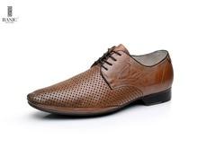 EDICIONES BÁSICAS de Los Hombres de Cuero Encaje Bajo Heel Perforado Zapatos Del Holgazán de A209-11A-A559