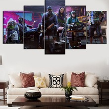 Modular HD Printing 5 Pieces Top-Rated Canvas Painting Games Watch Dogs 2 Type Poster Home Decorative Living Room Framework