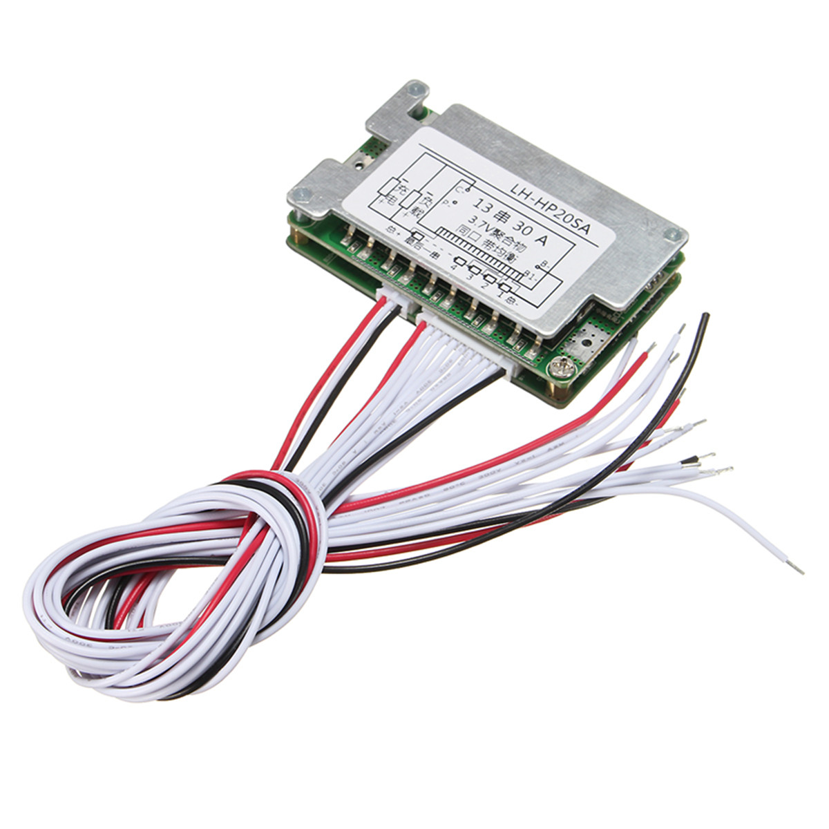 48v Bms 13s Li Ion Battery 30a Lithium Protection Electronic Wiring Board Balance Wire Module 70x45x15mm Integrated Circuits