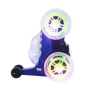 Image 2 - 電動小型 Rc カーラジオ制御車モデル点滅ライト音楽 360 度ドリフト回転タンブリング車両子供のおもちゃ