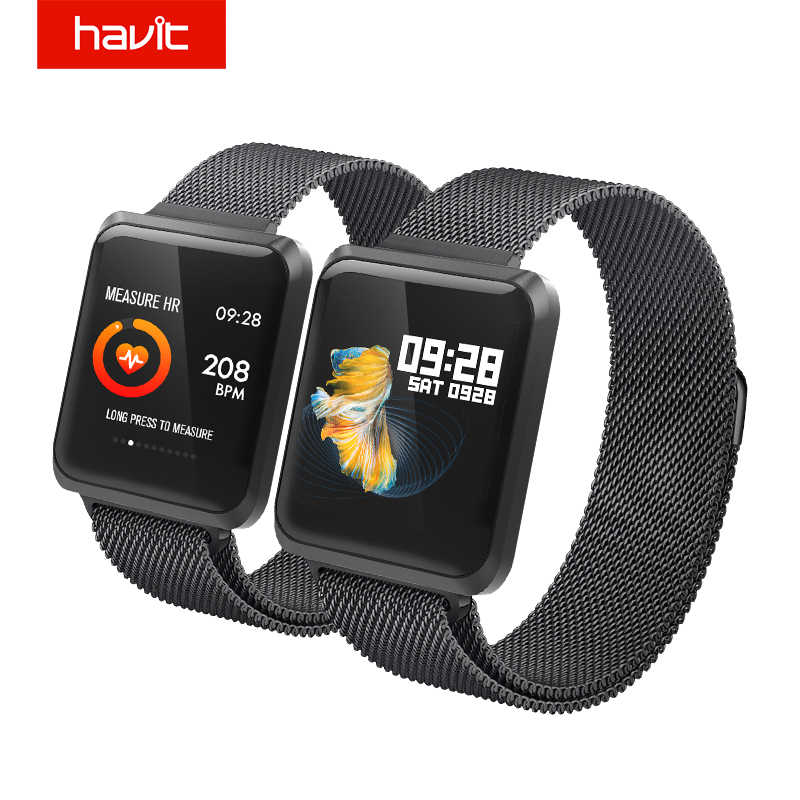 Havit Kebugaran Tracker Olahraga Cerdas-Beberapa Watch Smart Heart Rate Tekanan Darah Monitor Tahan Air Bluetooth Layar HD