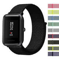 20mm Watch Bands for Xiaomi Huami Amazfit Bip Youth Watch Nylon Sport Loop Stainless Steel Mesh wrist Strap for Amazfit Bip band