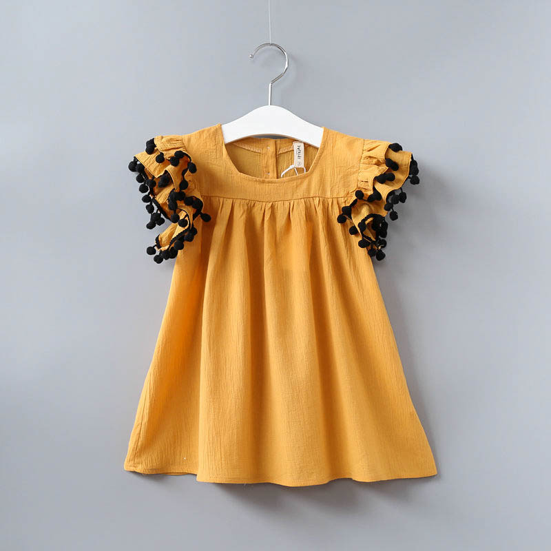 Hurave new fashion girls summer dress kids clothing children vestidos for kids ruffles sleeve summer cute dressesHurave new fashion girls summer dress kids clothing children vestidos for kids ruffles sleeve summer cute dresses
