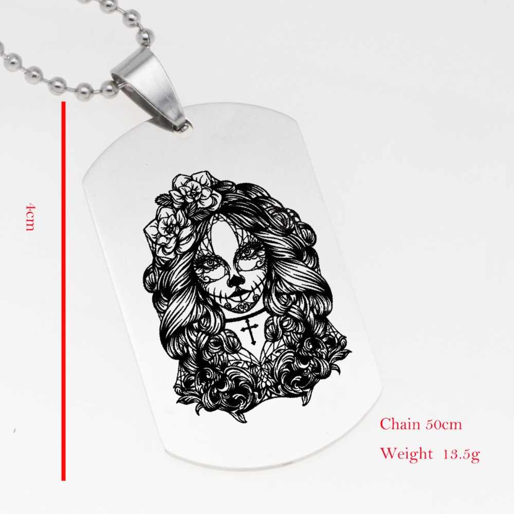 2018 Trendy Stainless Steel Jewelry Square Image Necklace Keychain Halloween Picture  Accept Drop Shipping YP6205