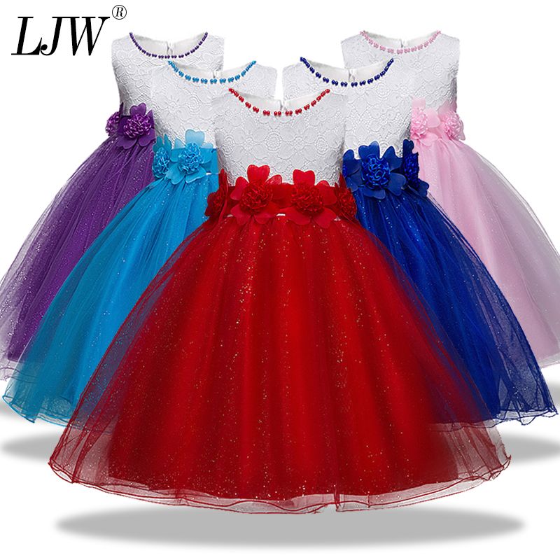 Girls Baby Christmas Dress for girl Flower girl Dresses Wedding Kids Lace Beading Evening Party Dresses For Toddler Girl Clothes girl party dress christmas dress for girl 2017 summer formal girl flower gir dresses junior girls prom gown dresses baby clothes