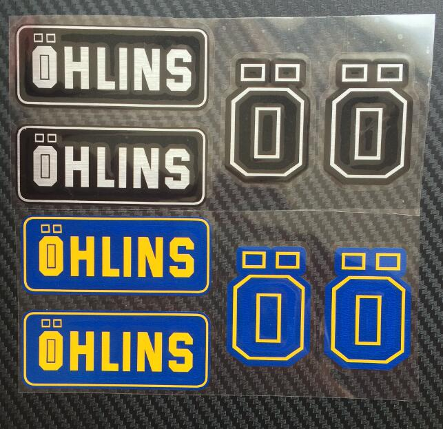 Shock Avinyl Motorcycle Stickers Refires Ohlins Bsorbers