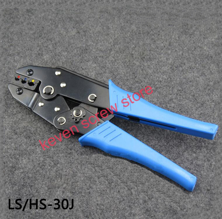 RV/SVpre insulated cold terminal connector sheath manual crimping pliers LS/HS series plier hands tool 0.5-6.0mm2 20-10 AWG hs 30j awg 22 10 0 5 6 0 mm2 insulated terminals ratchet crimping tool crimping plier multi tool tools hands sale