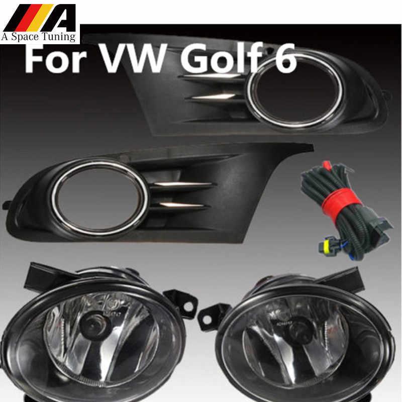 Accesorios de estilo de coche delantero inferior Luz de marcha paragolpes rejilla antiniebla para Volkswagen VW Jetta deportiva Golf 6 MK6 TDI ETI