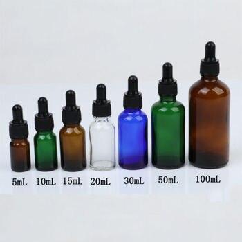 1 шт. 5 мл/10 мл/15 мл/20 мл/30 мл/50 мл пустые янтарные бутылки-капельницы стеклянные эфирные масла жидкость ароматерапия пипетка парфюмерные Контейнеры