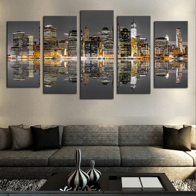 Modern City Canvas Art