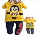 1-4Y niños trajes de dibujos animados muchachos fijados ropa de bebé niño niños ropa niños hoodies boy ropa set niños conjuntos