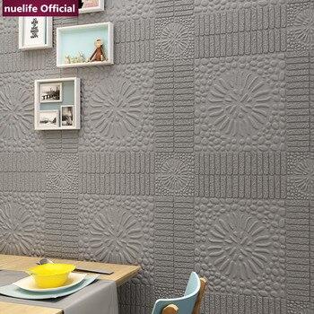 Modern 3D flower pattern soft package wallpaper bedroom living room children's room waterproof anti-collision foam wall stickers