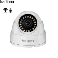 GADINAN 720P 960P 1080P IP WIFI Camera Microphone Audio Night Vision 3 6mm Lens 2MP Dome