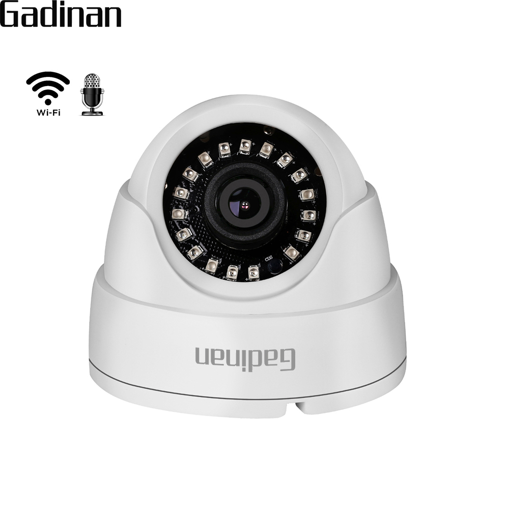 GADINAN 720P 960P 1080P IP WIFI Camera Microphone Audio Night Vision 3.6mm Lens 2MP Dome Security CCTV Wireless Camera P2P CamHi