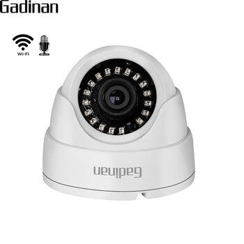Gadinan 720 p 960 p 1080 p ip wifi 카메라 마이크 오디오 나이트 비전 hi3518ev200 돔 보안 cctv 무선 카메라 p2p camhi