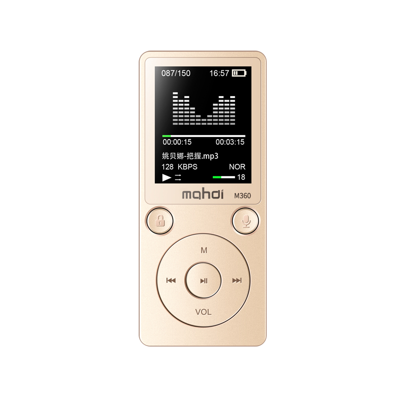 Mahdi M360 Metal 1.8 Flac MP3 Player 8GB High Sound Entry-level Lossless with FM Radio E-book HIFI Music Player