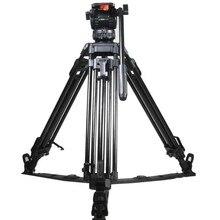 """TRIX 65 """"V8L kit Tripé de Câmera de Vídeo w/Camcoder Fluido Cabeça de Carga 8 KG de Alumínio Tripé para HDV câmera BMCC C300 Tilta rig"""