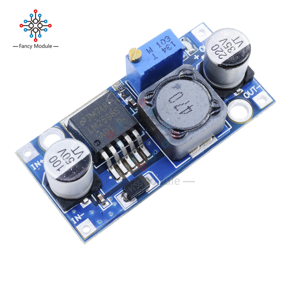 DC-DC Step Down Module LM2596S LM2596 3.2V-40V To 1.25V-35V Adjustable Power Supply Buck Converter Voltage Regulator Module lm2596 dc dc step down converter voltage regulator led display voltmeter 4 0 40 to 1 3 37v buck adapter adjustable power supply
