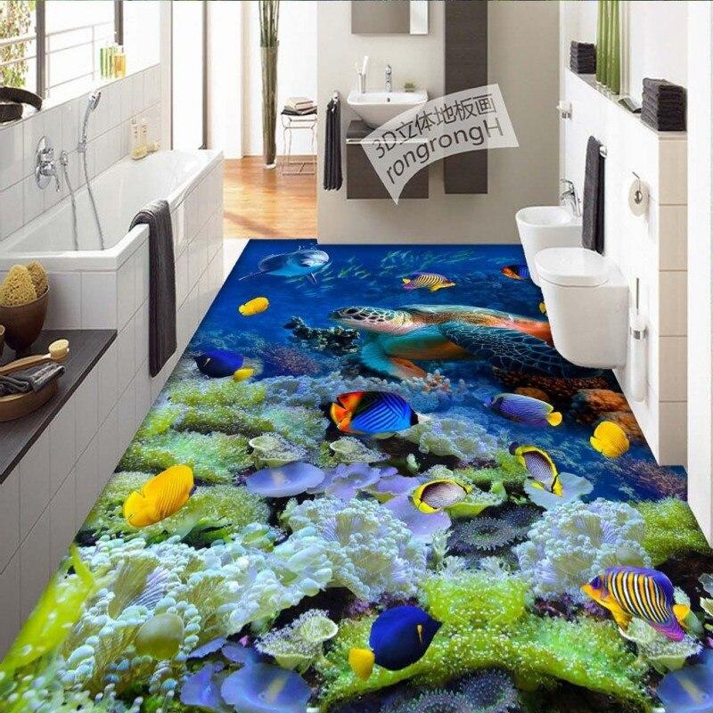 Spedizione Gratuita Coral sea turtles 3D studio camera da letto bagno soggiorno lobby piano addensato impermeabile pavimentazione muraleSpedizione Gratuita Coral sea turtles 3D studio camera da letto bagno soggiorno lobby piano addensato impermeabile pavimentazione murale