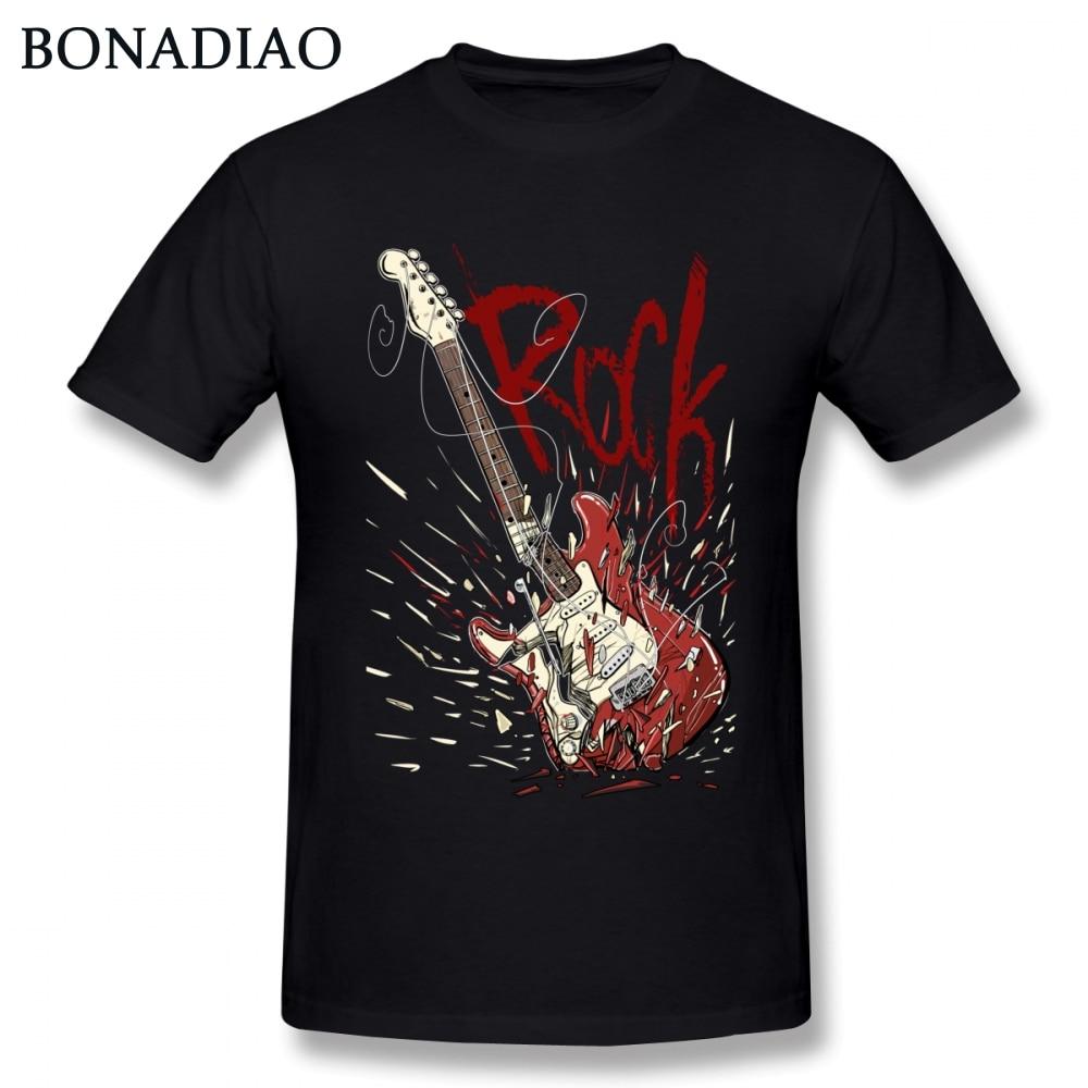 Boy Electric Guitar Rock N Roll T Shirt 3D Print T Shirt O-neck Free Shipping Homme Tee Shirt