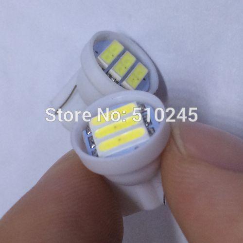 100X w5w 194 T10 3 led SMD 7014 t10 3smd Wedge Car Auto LED Light Bulb Lamp White free shipping
