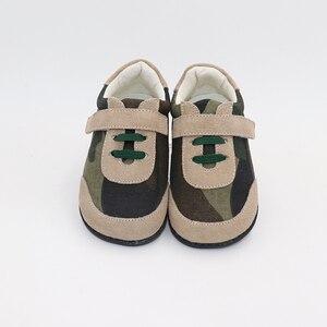 Image 4 - TipsieToes למעלה מותג עור אמיתי באיכות גבוהה תפרים ילדים ילדי נעלי יחף עבור בני 2020 אביב חדש הגעה