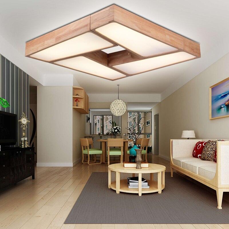 US $165.0 |Moderne minimalistische LED Deckenleuchten dimmen holz  wohnzimmer deckenleuchten gang holz schlafzimmer lampe Nordic studie  YA72621-in ...