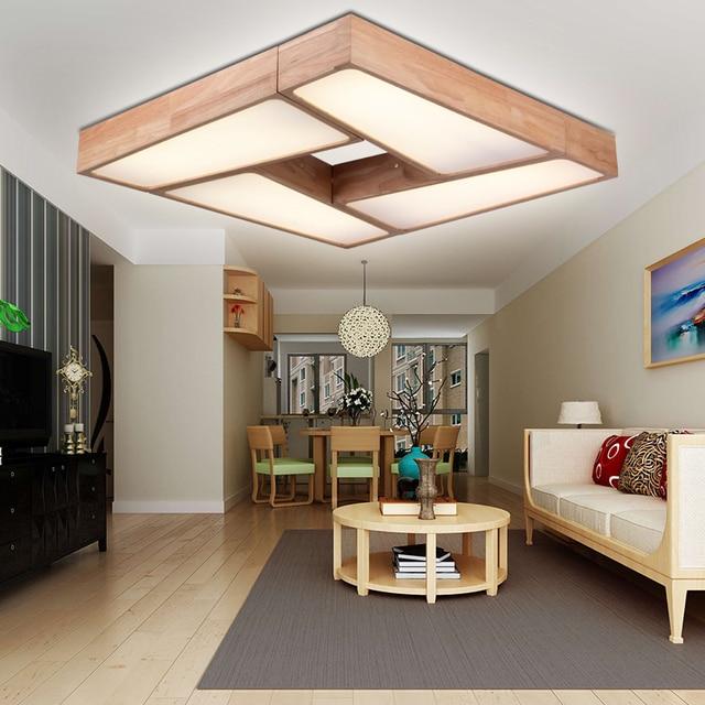 Moderno e minimalista Plafoniere a LED dimming legno soggiorno ...