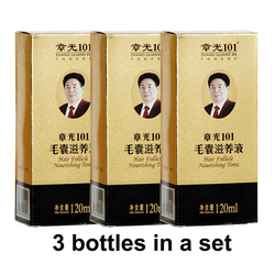 Zhangguang 101 Hair follicle nourishing tonic 3 pieces 3x120ml Hair Regain Tonic Hair Treatment Regrowth 101 hair 100% original