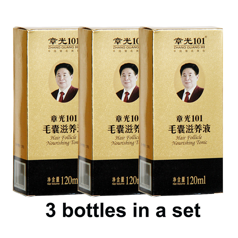 Zhangguang <font><b>101</b></font> <font><b>Hair</b></font> follicle nourishing tonic 3 pieces 3x120ml <font><b>Hair</b></font> Regain Tonic <font><b>Hair</b></font> Treatment Regrowth <font><b>101</b></font> <font><b>hair</b></font> 100% original image