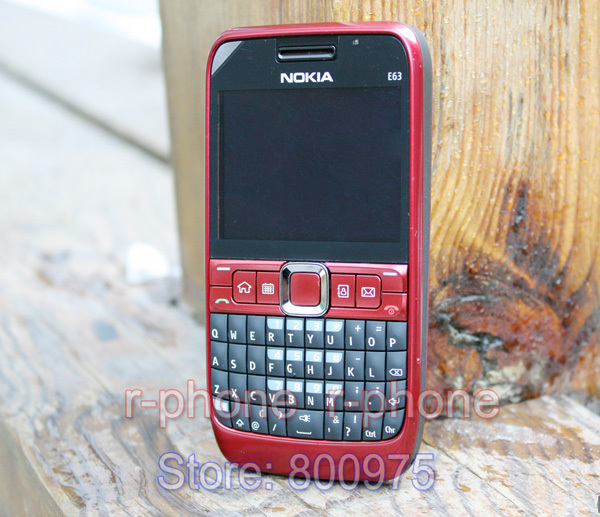 Image 5 - 100% Original NOKIA E63 Mobile Phone 3G Wifi Bluetooth QWERTY Keyboard Unlocked E63 RED & One year warranty-in Cellphones from Cellphones & Telecommunications