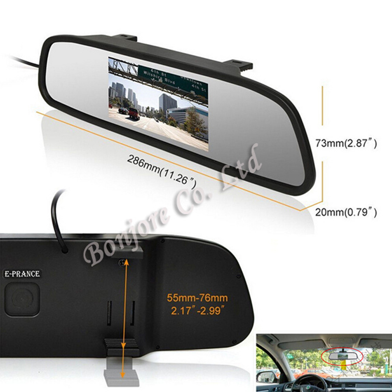 Car Parking Sensors 4 Probes Buzzer Europe License Plate Frame Car ...
