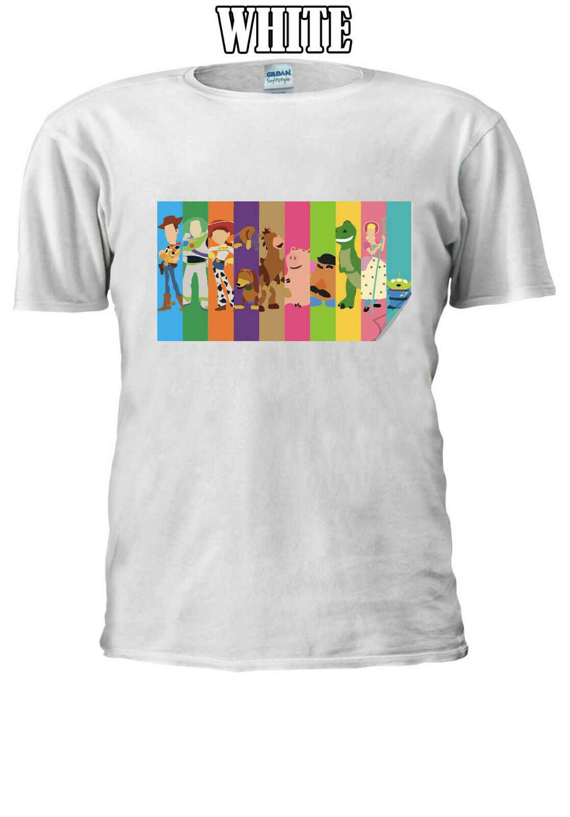Toy Story Main Characters T-shirt Men Women Unisex <font><b>V8</b></font> Men Women Unisex Fashion <font><b>tshirt</b></font> Free Shipping image