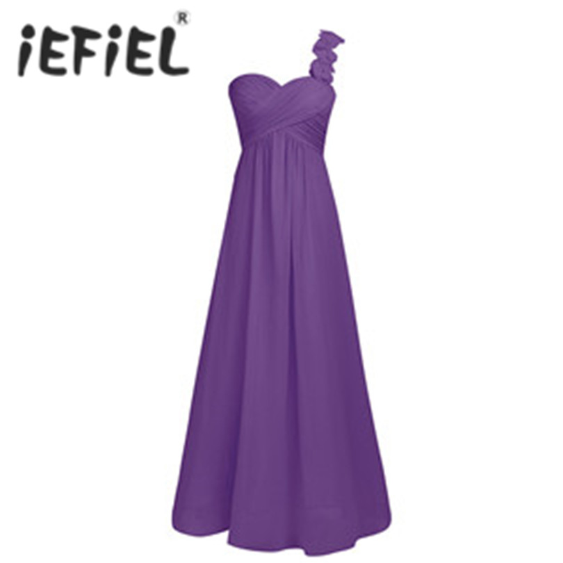iEFiEL Women Ladies Chiffon Tulle Ball Gowns Dress for Bridesmaid Party Long Prom Gown Floor Length Formal Occasion Dresses