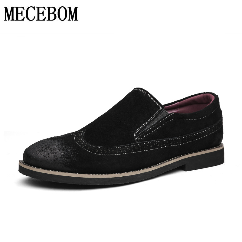 Men's Brogue leather shoes loafers fashion slip-on casual boat shoes men moccasins comfortable footwear size 38-43 861m branded men s leather loafers leisure casual suede leather shoes for men business slip on boat shoes moccasins penny loafers