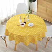 Mesa redonda de paño de algodón de poliéster nórdico decoración para el hogar mantel de algodón liso Obrus tafelcleed mantel mesa napeo flecha gris