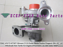 TD02 49173-07507 49173-07505 Turbo Turbocharger For Ford Fusion Fiesta 6 For Focus C-Max For Citroen C3 4 207 1.6L TDCI DV6ATED4