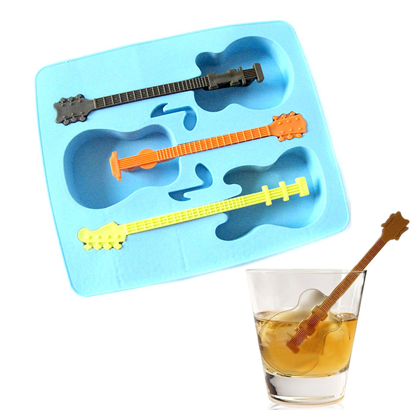 Homeshopping New Creative Silicone Ice Guitar Modeling System of Three  Ice Mold Random Color