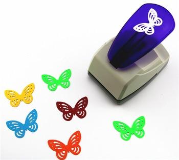 Super Besar Kupu-kupu Timbul Perangkat Timbul Pukulan Pohon Natal Kertas Busa Puncher Gambar Ukuran 3.8-4.3 Cm Mainan Anak Anak