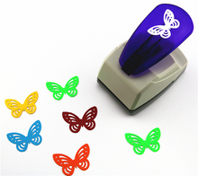 Super big butterfly embossed device embossed punch Christmas tree foam paper puncher figure size 3.8 4.3cm Children Toys