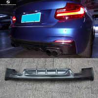 F22 M235 Carbon Fiber Car Rear bumper diffuser lip four exhaust for BMW F22 M235i car body kit 14-18