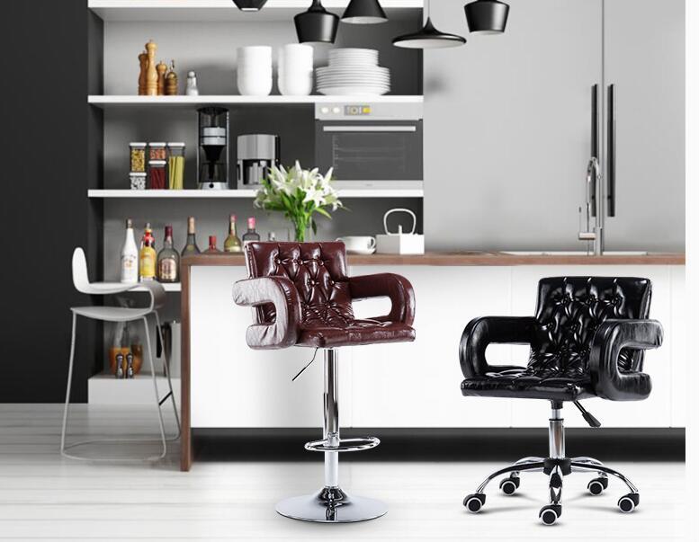 Bar Chair Chair Lift Modern Simple High Stool High Back Bar Stool Bar Front Desk Family Stool