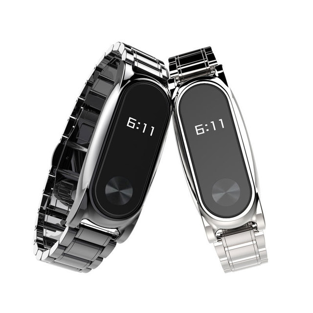 Free screws Metal stainless Miband 2 wristband replacement strap watchbands Metal Frame for Xiaomi Mi Band 2 Smart Watch Miband
